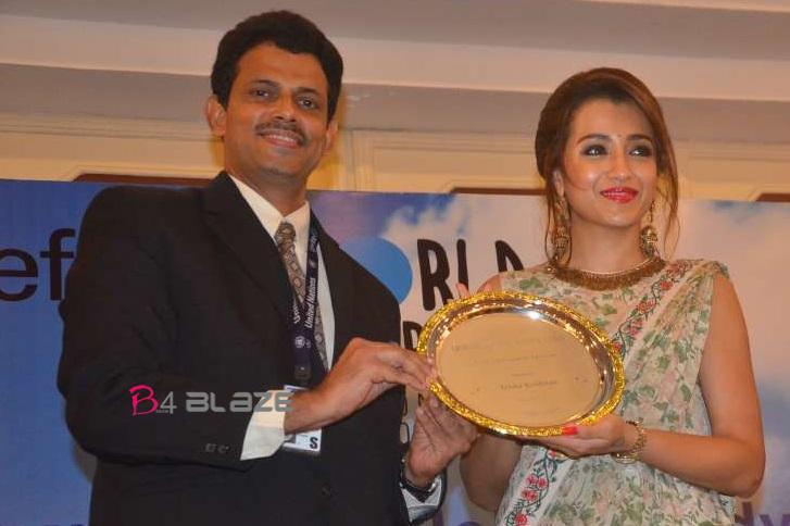 Trisha Krishnan receives UNICEF celebrity advocate status !!!