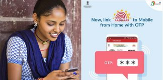 Link aadhar to mobile from home