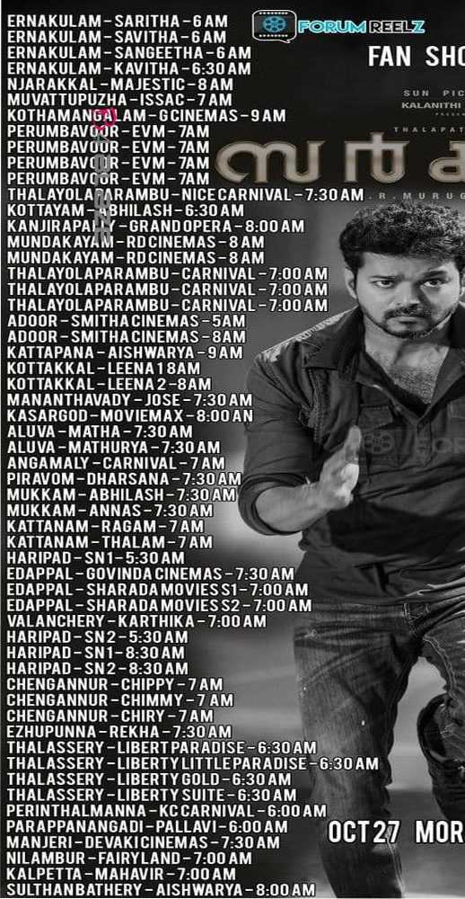 Sarkar Kerala Theater List