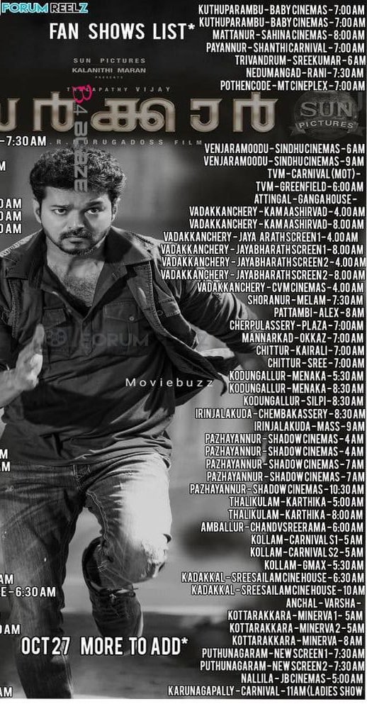 Sarkar Kerala Theater List 2