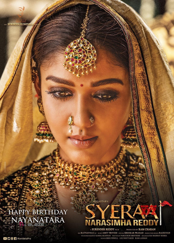 Nayanthara's motion poster in Say Raa narasimha reddy