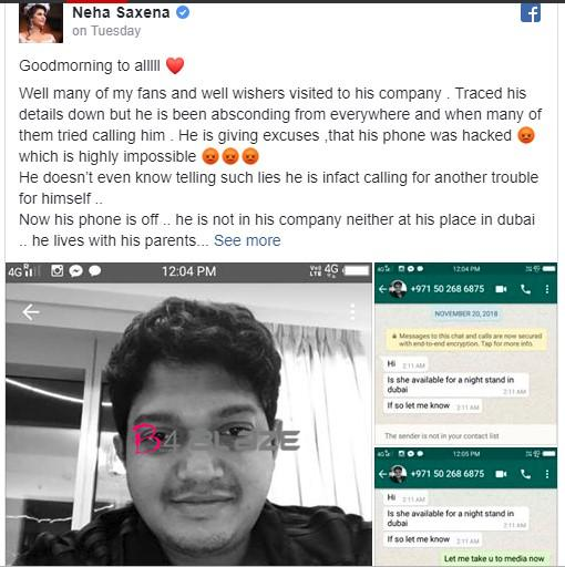 a man against neha sexena