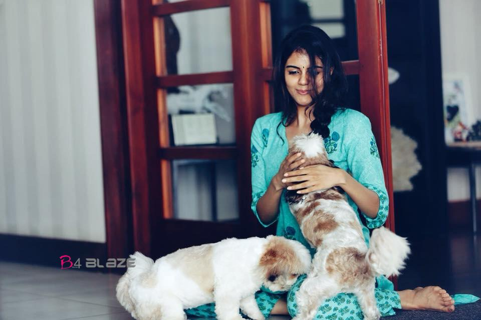 kalyani Priyadarshan with Pets