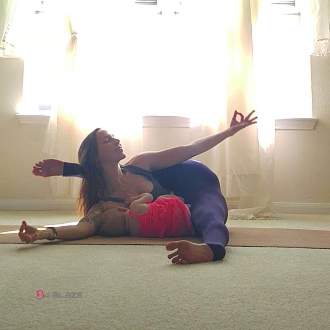 Mom Causes Uproar After Posting Breastfeeding Yoga