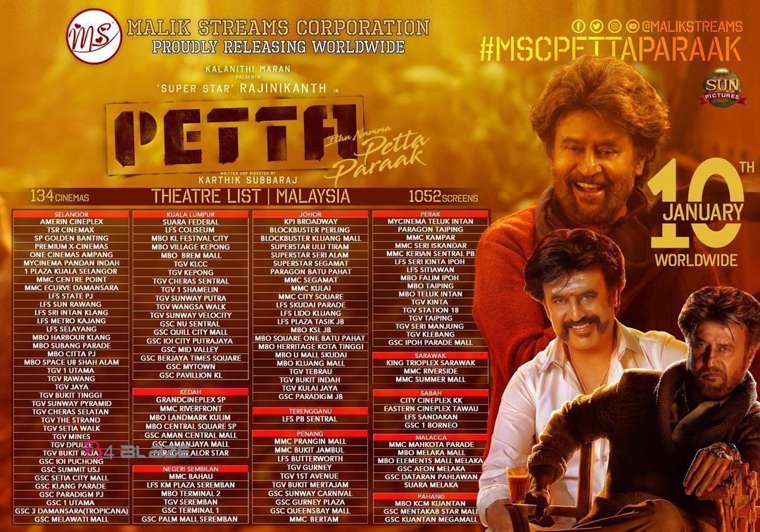 petta theater list in Malaysia