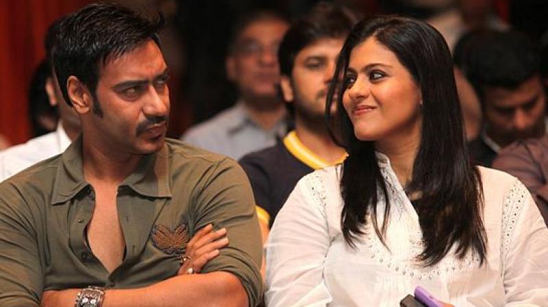 Kajol with Ajay Devgn