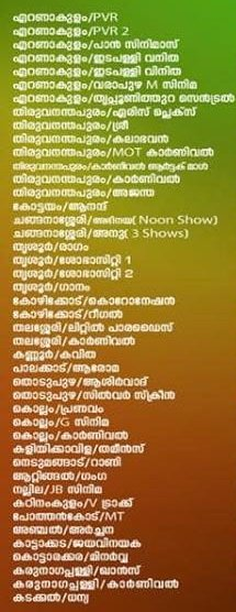 Kumbalangi Nights theatre list 1