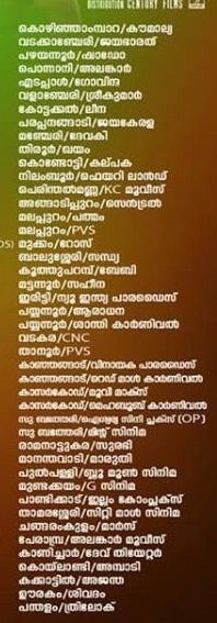 Kumbalangi Nights theatre list 3