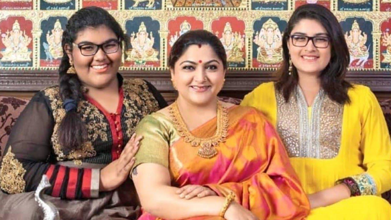 Kushbu with her Daughters