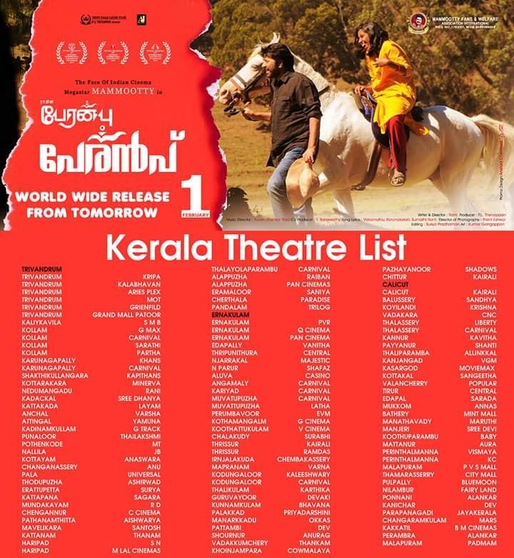 Peranbu-theater-list-kerala