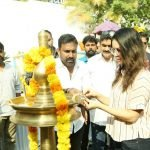 Sunny Leone in Pooja Function of Malayalam Movie Rangeela