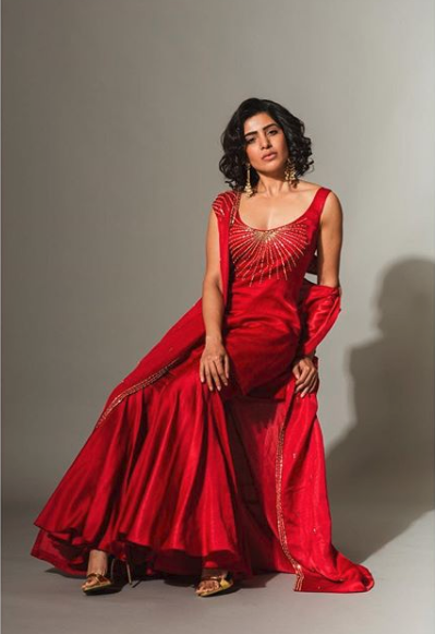 Samantha's Latest Photoshoot in Red Gown goes Viral