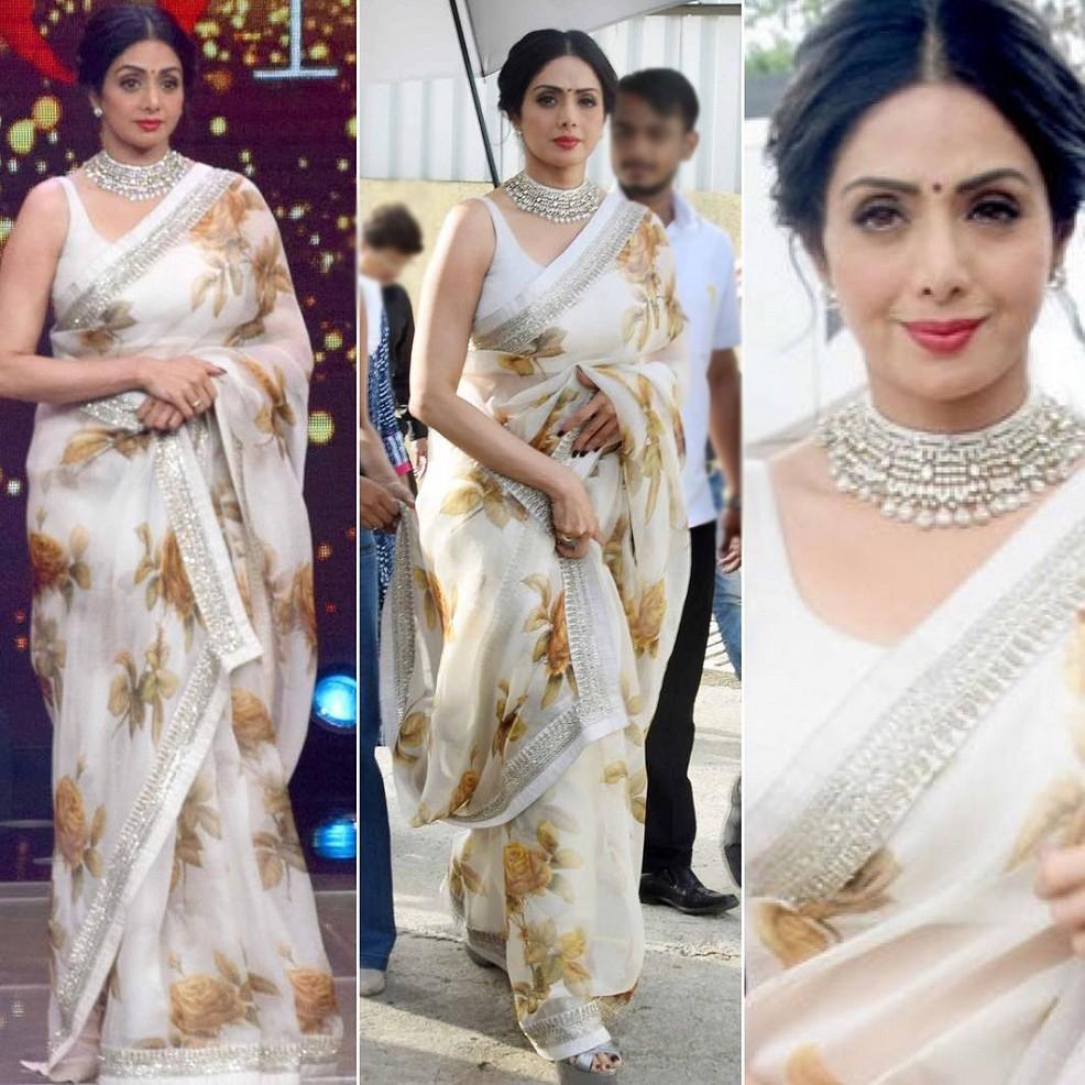 Sridevi in White Sari