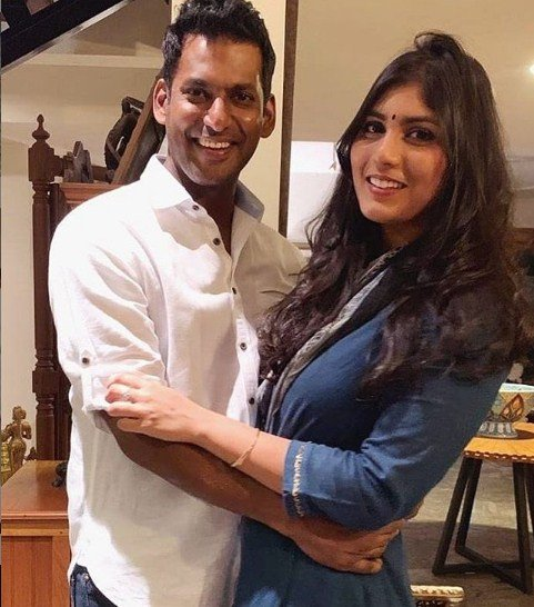 Vishal With Aneesha Reddy