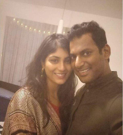 Vishal and Aneesha Reddy