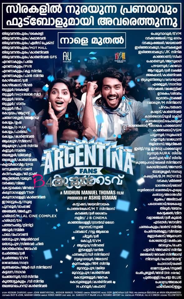 Argentina Fans Kaattoorkadavu Theater List