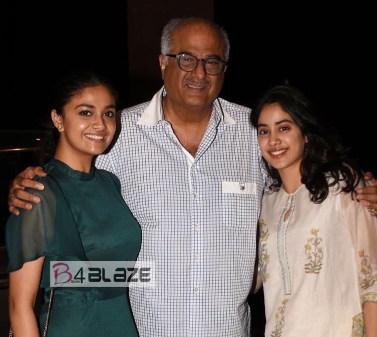 Keerthy Suresh and Janhvi Kapoor party in Mumbai!