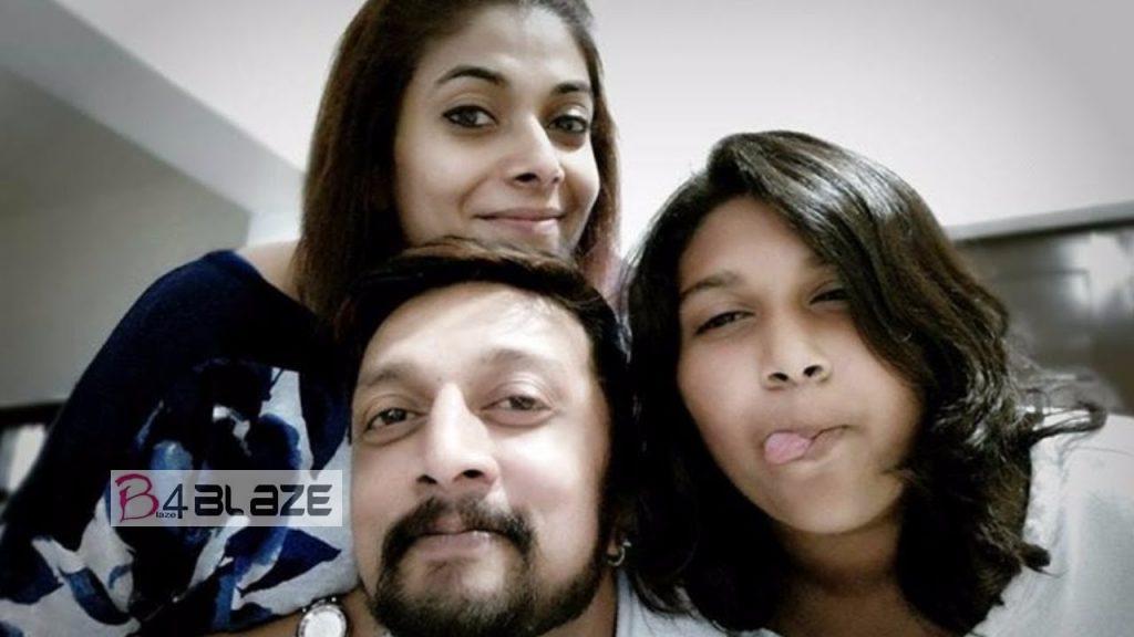 Kiccha Sudeep and Family