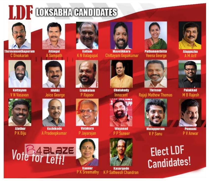 LDF Candidates Lok Sabha 2019