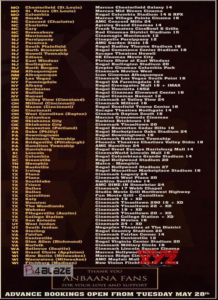 NGK Movie Worldwide Theater List 1
