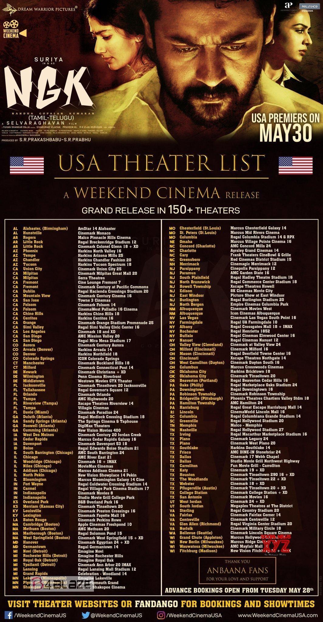 NGK Movie Worldwide Theater List2