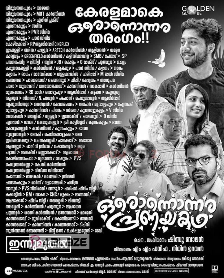 Oronnonnara Pranayakadha Theater List