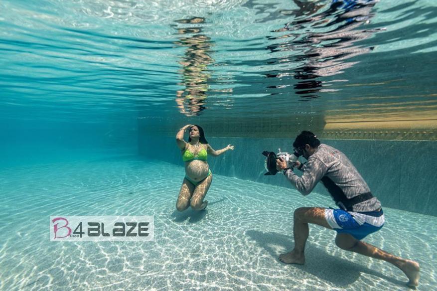 Sameera Reddy under water photography 2