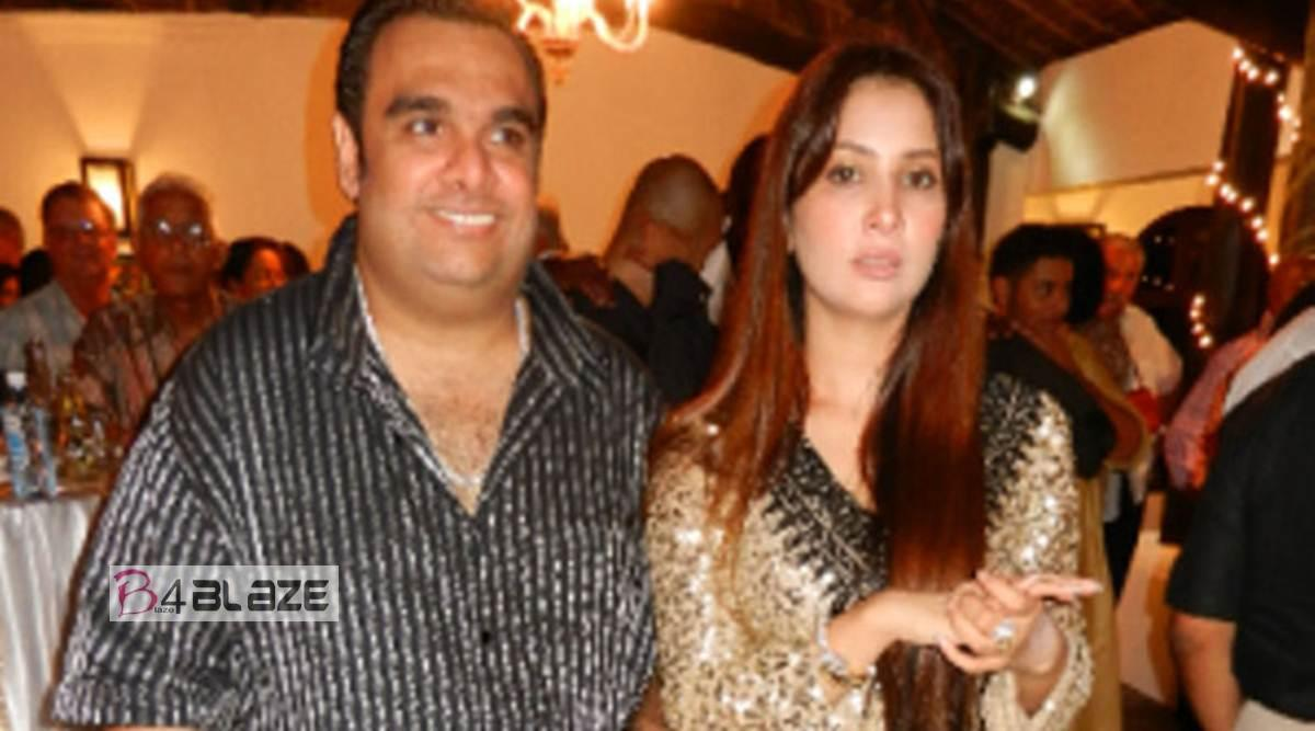 Kim Sharma with husband