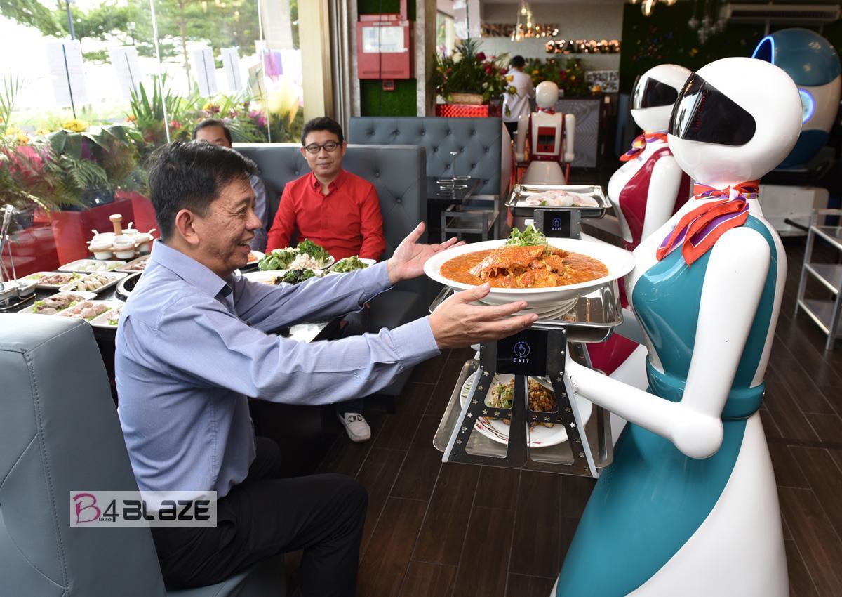 Robot Served Food in Restaurant