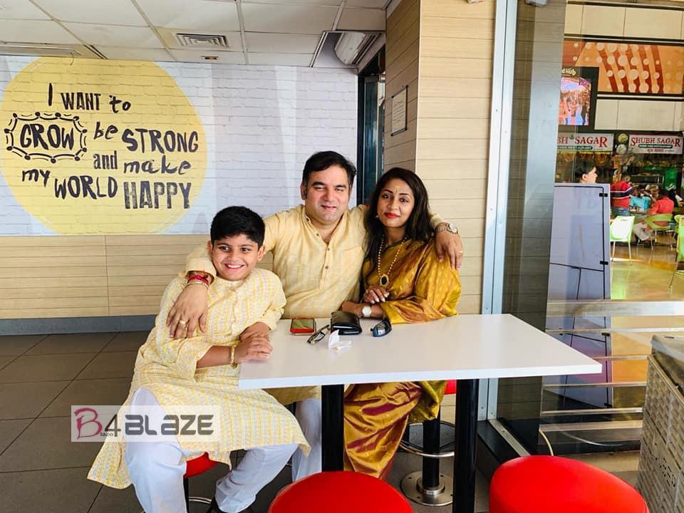 Santhosh Menon with family