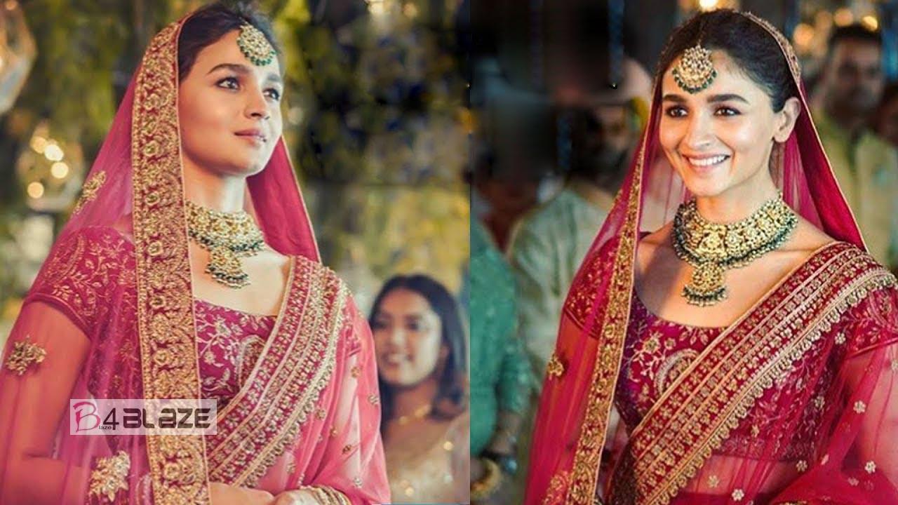 Ranbir Kapoor's Sweetheart Alia Bhatt's Bridal Look Is Stunning