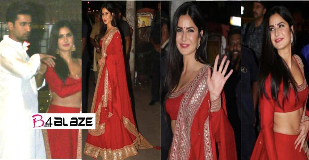 Vicky and Katrina were seen together at the Diwali party, scared and separated after seeing the camera