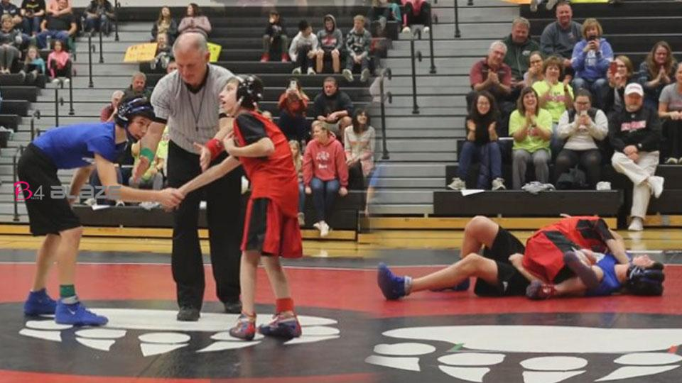 A 14-year-old boy with cerebral palsy who was struck by an opponent!