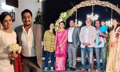 Actor Joy Mathew's son got married, Mathew and Angel's Photo