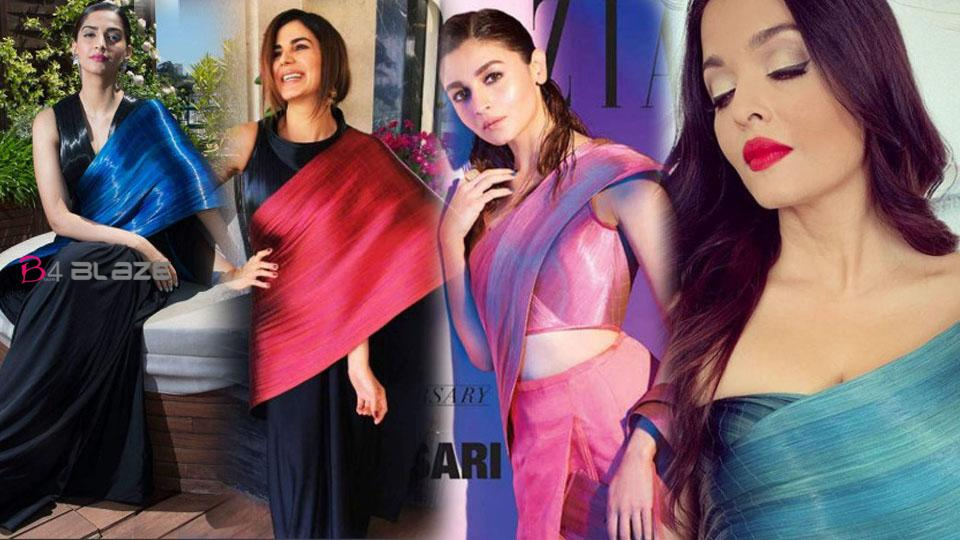 From Aishwarya to Alia, Bollywood divas have a metallic sari