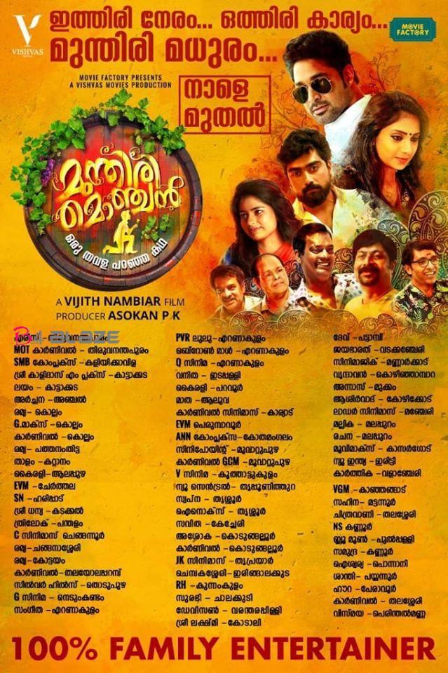 Munthiri Monchan Theatre List