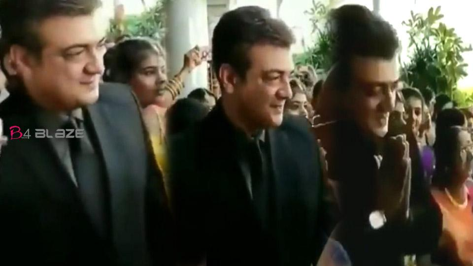 Ajith welcoming guests for the manager's wedding, Watch the viral video