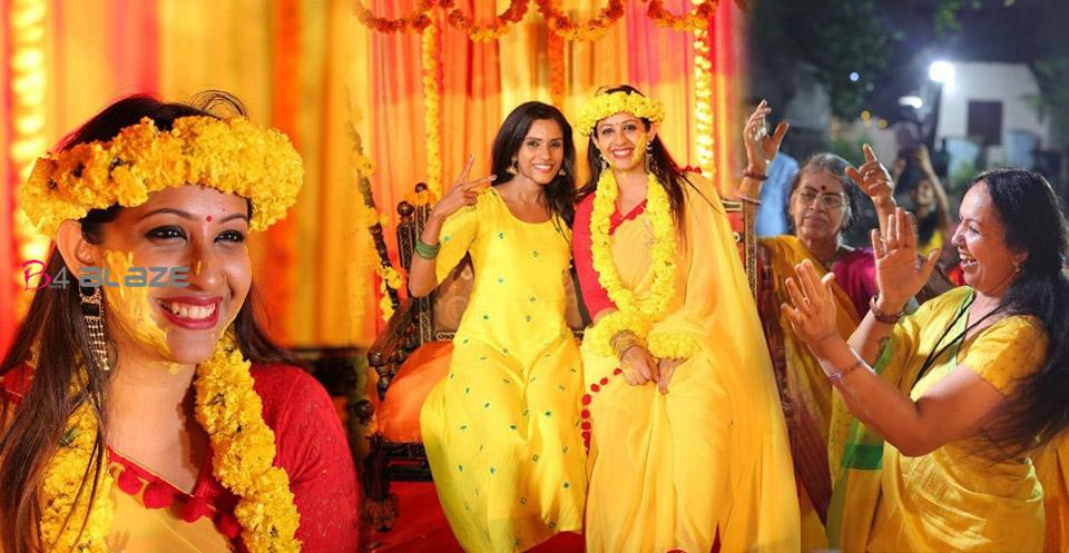 Sowbhagya Venkitesh Haldi Photos and Video