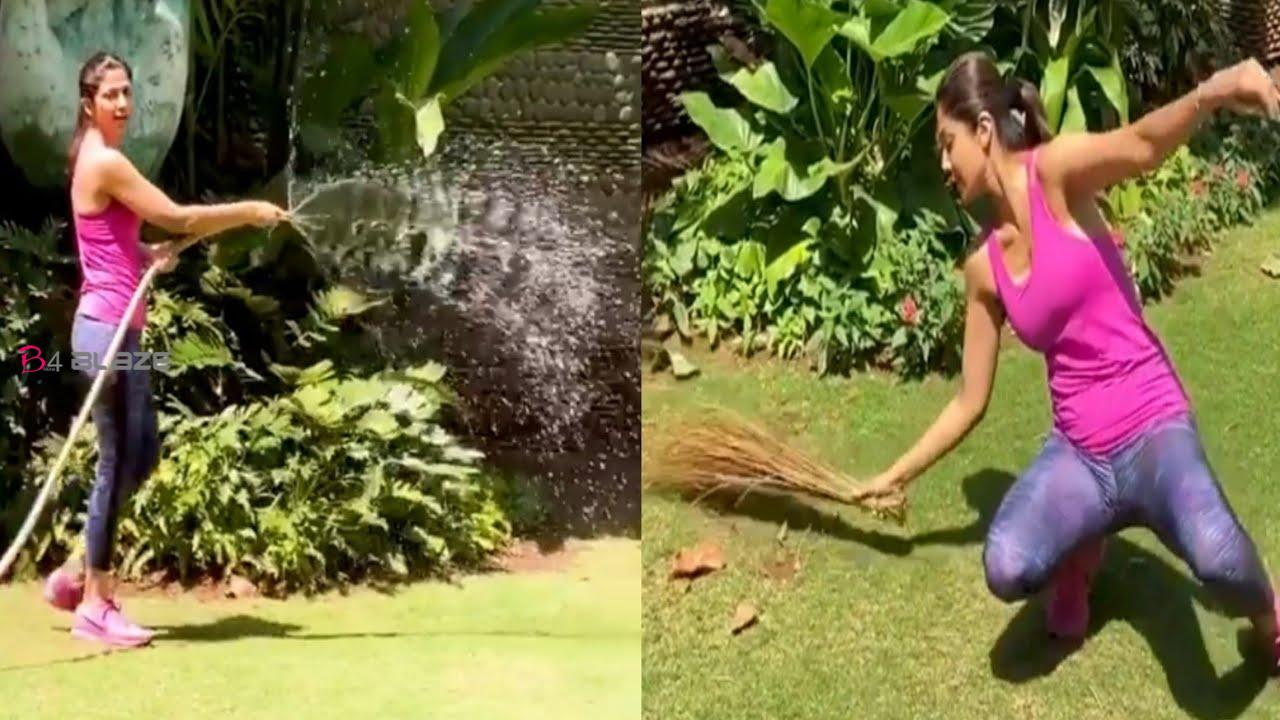 Shilpa Shetty caught a broom when meds did not come and then such exercise, video went viral