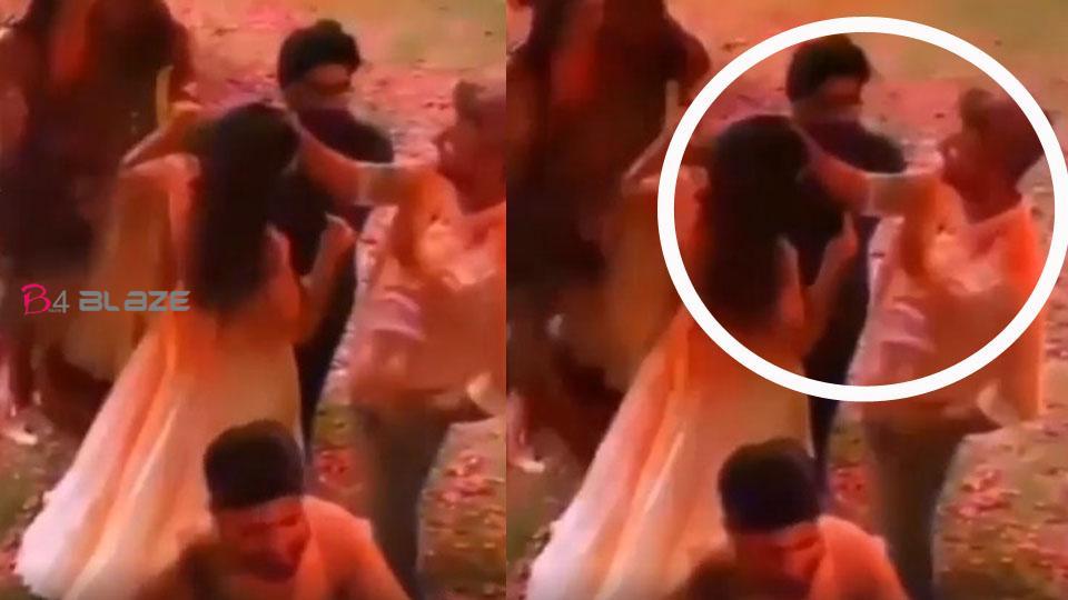 Vicky Kaushal celebrates his first Holi with Katrina Kaif(Video)