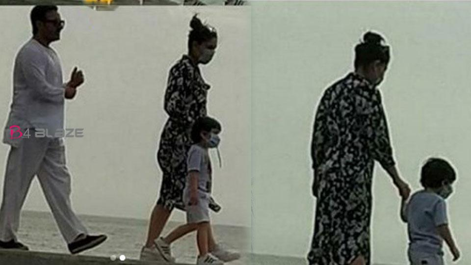 Saif Ali Khan walks out without mask, trolls on social media, Kareena Kapoor Khan and Taimur also came together