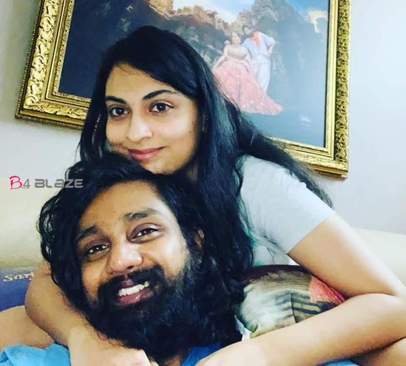 Dhruva Sarja and his wife