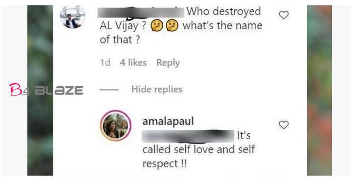 Amala Paul Instagram Comment