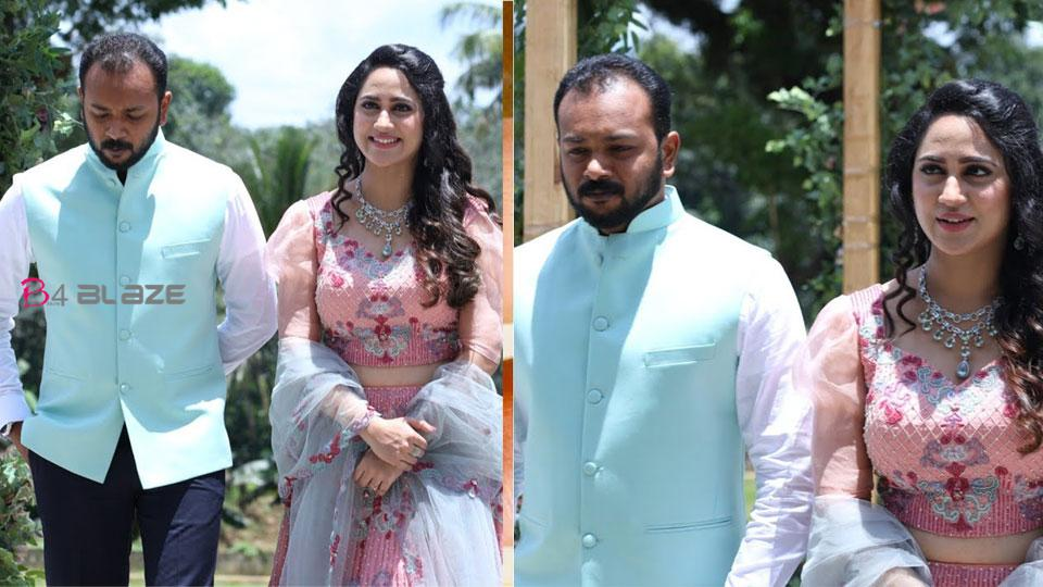 Miya George's Wedding Betrothal Function Video is viral on social media!