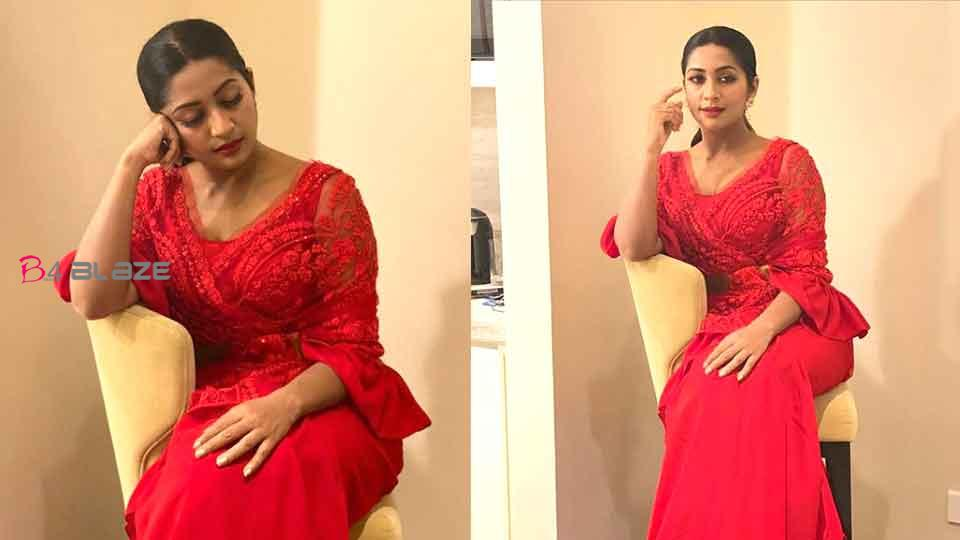 Navya Nair in a modern dreaa; Images are viral
