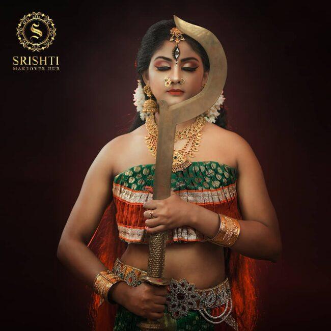 Vinduja Vikraman Navratri special photoshoot 1