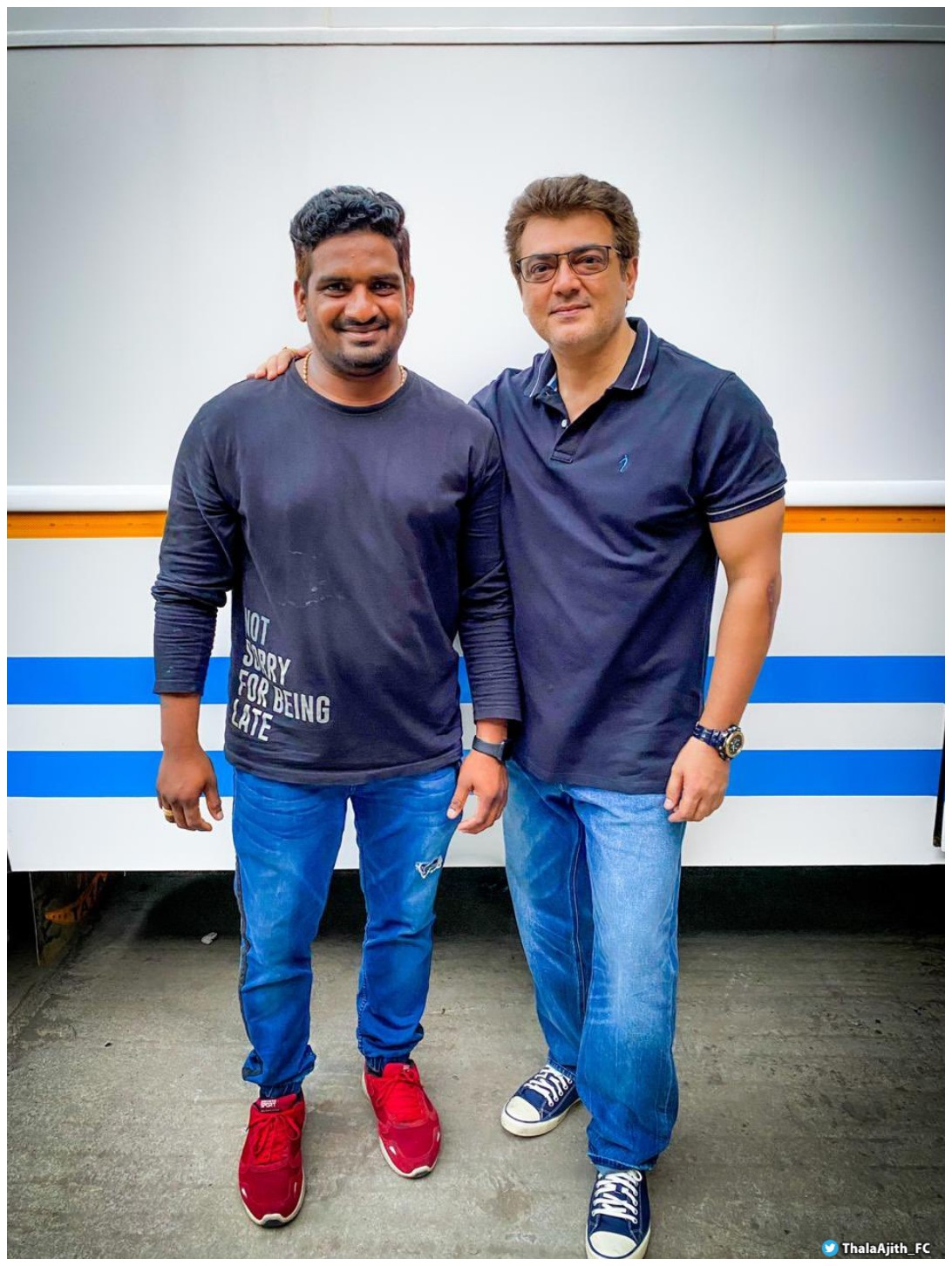 ajith new look