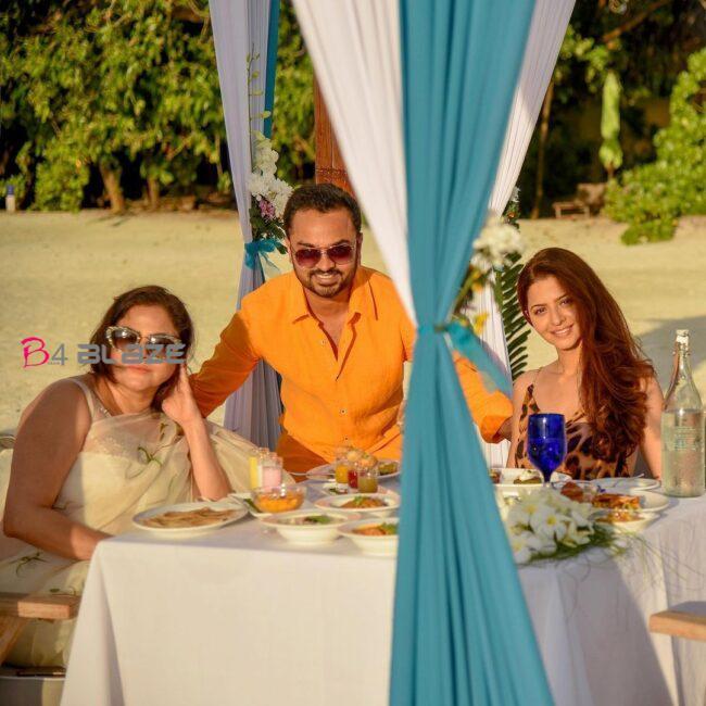 Vedhika in Maldives 2