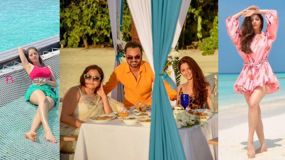 Vedhika in Maldives