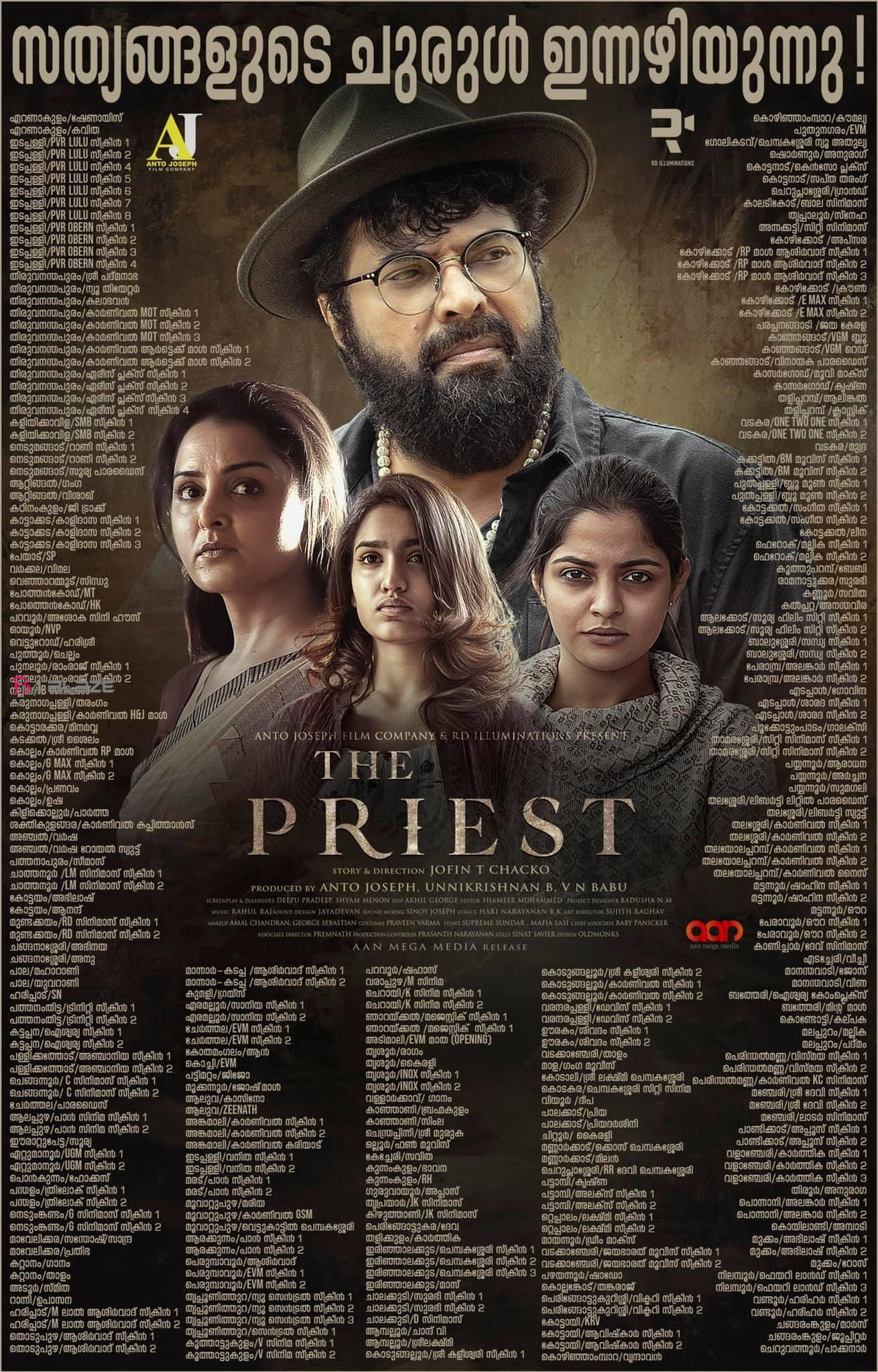The Priest Theatre List